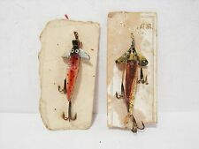 Vintage Allcock Phantom Minnows Baits Lures - Carded