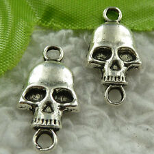free ship 320 pieces tibet silver skull connector 22x11mm #3798