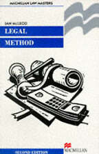 Legal Method Pb (Law Masters),GOOD Book