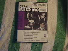 Great Detective Classics (DVD, 2003) Four Movies on 2 DVD's   NEW