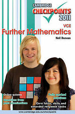 CAMBRIDGE Checkpoints VCE FURTHER MATHEMATICS: 2011 by Neil Duncan