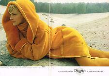 PUBLICITE ADVERTISING 074  1990  REVILLON  boutique manteaux  peaux lainées (2 p