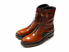 Original Prada NEW Boots Milano Brown Women (Unisex) Boots Shoes in size 39 1/2