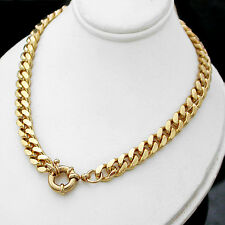 "LADIES 24"" BOLT RING CLASP 7mm Rounded CURB Link 14K GOLD GL Necklace +LIFE GUAR"