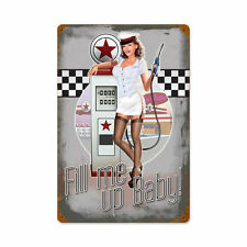 Lethal Threat fill me up Baby funcionaban pin up 50er Girl sign chapa escudo Escudo