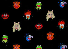DISNEY MUPPETS FRIENDS KERMIT MISS PIGGY SESAME STREET 100%COTTON FABRIC YARDAGE