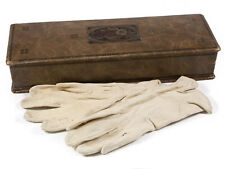Art Nouveau Leather Glove Box and Gloves 1909