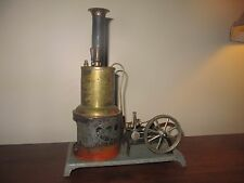 VINTAGE WEEDEN VERTICAL STEAM ENGINE WITH GOVERNOR, WHISTLE BRASS BOILER, 10 ""