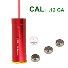 12GA Cartucho Bore Sighter escopeta Red Dot Laser Boresighter Telescopica Caza UK
