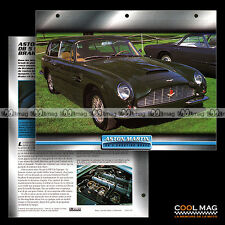 #045.03 ★ ASTON MARTIN DB 5 SHOOTING BRAKE 1965 ★ Fiche Auto Car card