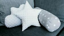 Handmade Star Cloud Bolster Set of 3 Cushions Baby Nursery Kids Bedroom Trendy