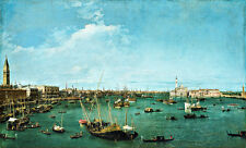 Bacino di San Marco Venice A1 by Canaletto High Quality Canvas Print