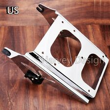 US Detachable Two Up Tour Pak Pack Mount Luggage Rack For Harley Touring 2014