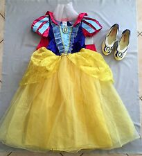 NWT Disney Store SNOW WHITE COSTUME 9 -10 yrs DRESS UP SHOES SZ 32-33 US 2/3 SET