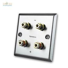 UP Speaker socket Stainless steel Flush-mounted in-wall Can Wall mounting box LS