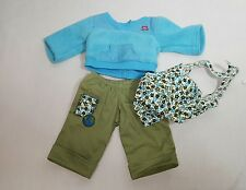 American Girl Doll Clothes Bitty Baby Outfit blue green