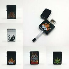 New Style Cigarettes Tobacco Smoking Compact Lighter Style Pipe (Random Color)