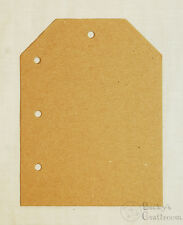 """Bare Chipboard Mini Tag Album Page Filler - 4 pcs, coordinates with 5.5"""" albums"""