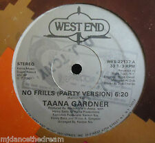"TAANA GARDNER ~ No Frills ~ 12"" Single USA PRESS"