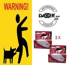 2 x Dazer * Stop Barking * Dog Deterrent * Dog Trainer * IT WORKS * Made in USA