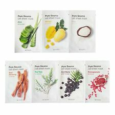 Missha Pure Source Cell Sheet Mask Aloe Mango Rice Red Ginseng 7pcs  Moisturize