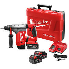 "Milwaukee 2715-22 M18 FUEL 18V 1-1/8"" SDS Plus Rotary Hammer w/ Batteries"