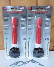 Midwest Can 4230 ~ Replacement Spill Proof Gas Fuel Can Spout ~ 2-Pack ~ New