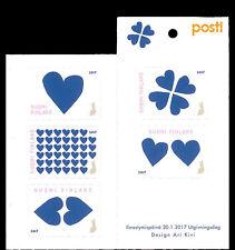 Finland - Postfris/MNH - Booklet Blue Heart 2017
