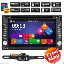 "6.2"" Touchscreen Double 2Din In Dash Car Stereo Radio GPS CD DVD Player+CAM MAP"