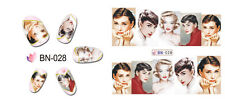 Nail Art Manicure Water Transfer Decal Stickers Hepburn Monroe BN028