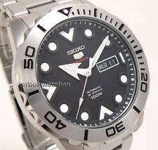 SEIKO 5 AUTOMATIC SPORTS S STEEL BEZEL SEE THRU BACK 100m SRPA03 SRPA03K1 cg