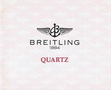 BREITLING QUARTZ ANLEITUNG INSTRUCTIONS I454