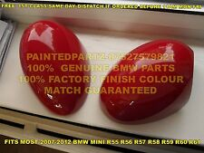 GENUINE BMW GP2 JCW CHILI RED MINI MIRROR COVERS COOPER R55 R56 R57 R58 R59 R60