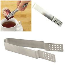 Stainless Steel Tea Bag Squeezer Strainer Holder Easy Squeeze Metal Teabags Tong