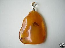 Großer Wolkiger Honig Natur Bernstein Anhänger 12,9 g Genuine Amber