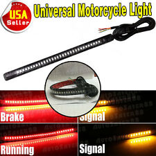 "Universal Motorcycle Light Strip- 8"" Flexible 32 LED Tail Brake Stop Turn Signal"