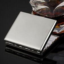 KUBOY brushed stainless steel metal cigarette case holds 20 cigarettes KC1-01