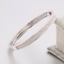 Eternity engagement BAND Swarovski crystal 18K white gold filled noble bracelet