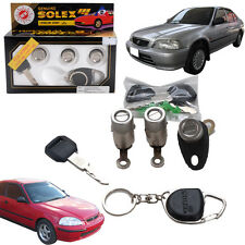 Fit 96-00 Honda Civic City G6 Solex Door Lock Security Safety Flat Key Cylinder