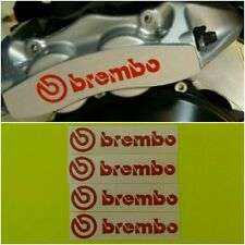 BREMBO Brake Caliper HIGT TEMPERATURE Decal Sticker Set of 4 (Red)