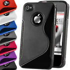 S-Line Case Gel Rubber Silicone Skin TPU Wave Back Cover For Apple iPhone 4S 5 6