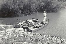 Vintage Large Real Photo- Fishing Trip- Boat- Looking for the Spot- 1930s-40s