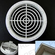 10 x 70mm WHITE SOFFIT ROOF AIR VENT Circular Upvc/Fascia Board/Eaves/Disc NEW