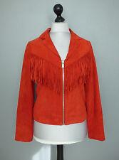 Veste en cuir rouge vermillon IKKS taille L