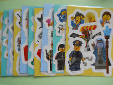 10 Packs of Lego Movie Mini Figure Stickers Childrens Party Bag Fillers