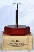 """Lillian Vernon Large Heavy Wood Doll Stand Adjustable Height 3-1/2 """" - 6-1/2 """""""