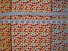 Autumn Leaves and Acorns on cream fabric 100% cotton per Fat Quarter