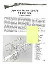 JAPANESE ARISAKA 38 RIFLE  EXPLODED VIEW PARTS LIST DISASSEMBLY INST AD 1993