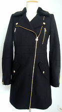 JUICY COUTURE WOOL MELTON COAT Wollmantel Jacke Mantel Damen GrXS NEU mit ETIKET
