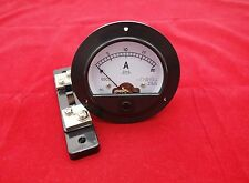 DC 0-20A Round Analog Ammeter Panel AMP Current Meter Dia. 90mm with shunt